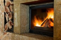 ogień, płomienie, kominek