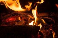 ogień, kominek