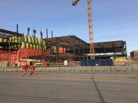 konstrukcje stalowe na placu budowy